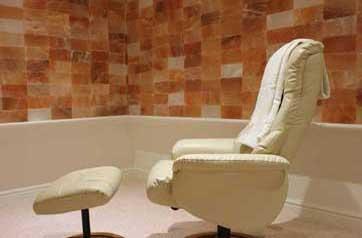 Chair in a salt cave